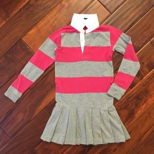 Ralph Lauren Gray and Pink Striped Dress